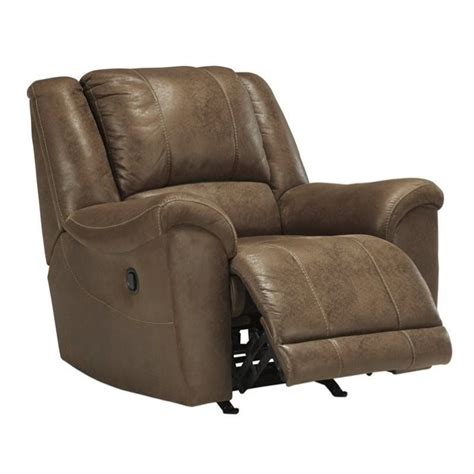 saddle leather recliner ashley niarobi faux leather rocker recliner in saddle