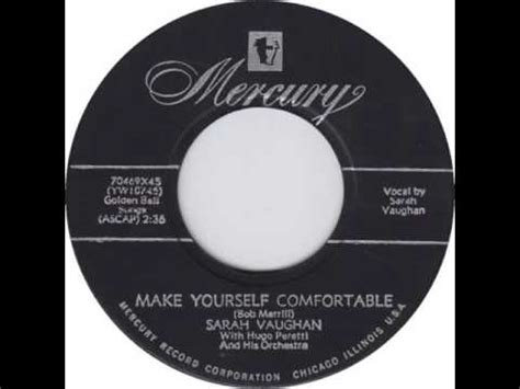 sarah vaughan make yourself comfortable sarah vaughan make yourself comfortable mercury 70469
