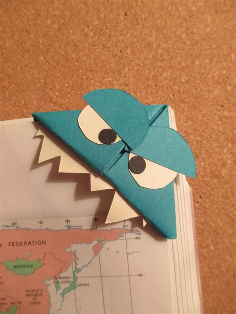 Origami Monsters - 66 best images about handmade origami bookmarks on