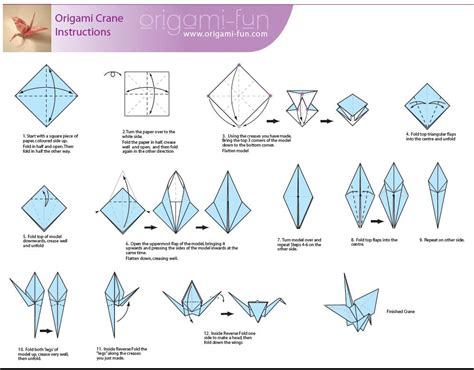 Origami Swan Directions - origami crane fly with origami learn to
