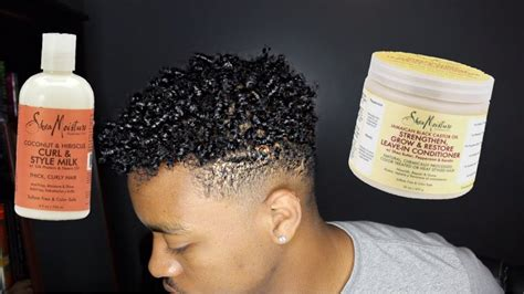 blacklabel hair gel for men get curly hair for black men ft shea moisture youtube