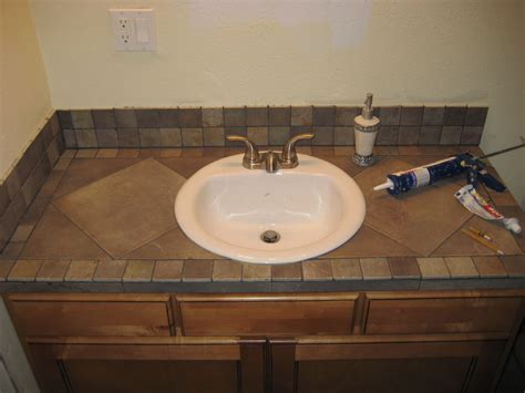 Bathroom Countertop Tile Ideas by Bathroom Vanity Tile Countertop My Projects
