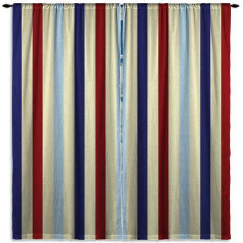 striped printed window curtains blue and window curtain