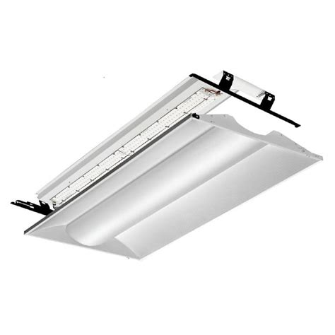 2 X 4 Ceiling Light Lithonia Lighting Gt4 Mv 2 Ft X 4 Ft White Led Lay In Troffer With Prismatic Lens 2gtl4 A12