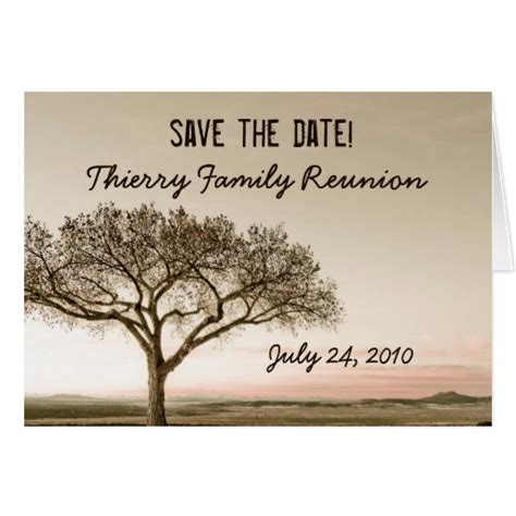 family reunion save the date cards templates high country save the date family reunion card zazzle