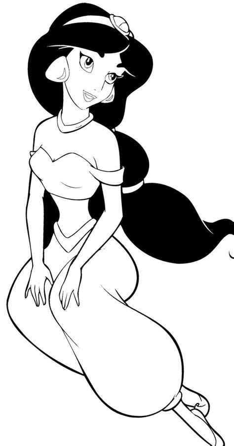 disney princess jasmine coloring page aladdin