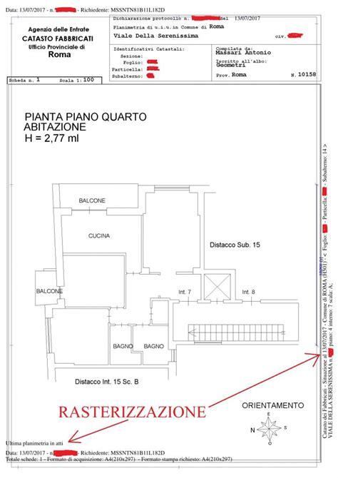 planimetria di un appartamento planimetria catastale a 9 00 piantina rasterizzata