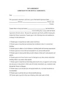 pet agreement rental fill online printable fillable