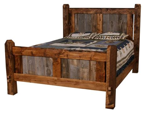 barn wood bed barn wood furniture pinterest