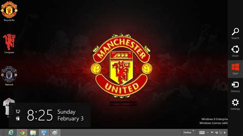 Themes Facebook Manchester United | manchester united 2013 theme for windows 8 ouo themes