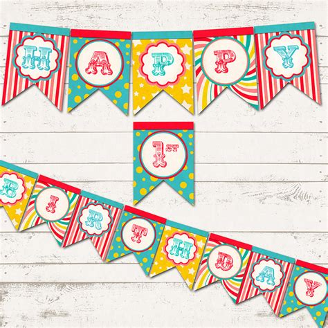printable circus birthday banner valerie pullam designs circus birthday double tails