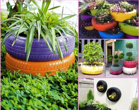 Things To Do With Flower Pots Ideas For Old Tires Creative Garden Ideas