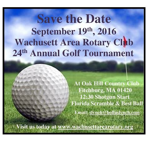 Rotary District 7910 Newsletter August 1 2016 Rotary District 7910 Golf Tournament Save The Date Template