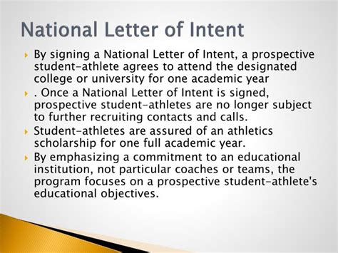 National Letter Of Intent And Scholarship Agreement Form Ppt Athletic Scholarship Info Powerpoint Presentation Id 4476540