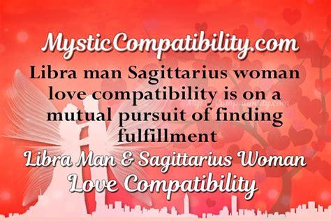 libra man sagittarius woman compatibility mystic