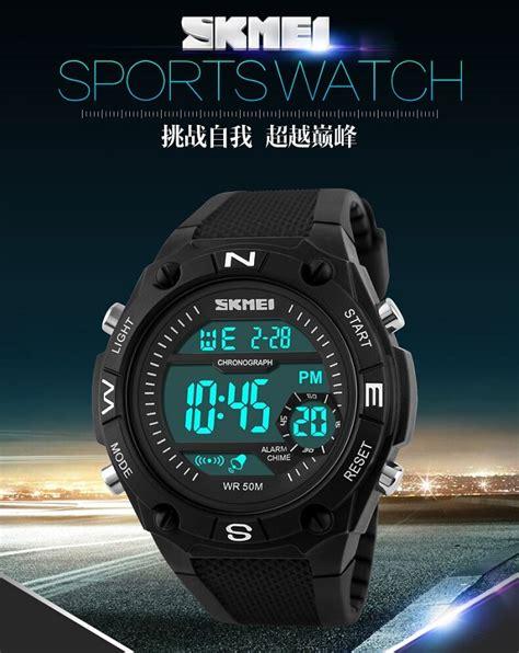 Jam Tangan Skmei S Shock Sport Dg1027 Black skmei jam tangan digital pria dg1093 black white