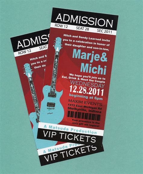 diy tickets template printable diy concert rock n roll birthday concert