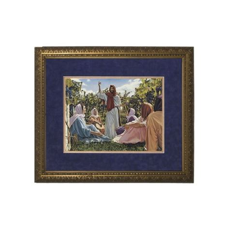 14 X 22 Matted Frame by The Proclamation Of The Kingdom Matted W Gold Frame