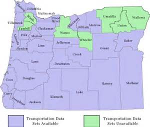 transportation data oregon counties uo libraries