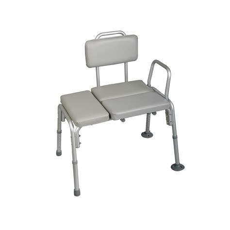 padded transfer bench medline deluxe padded transfer bench health wellness