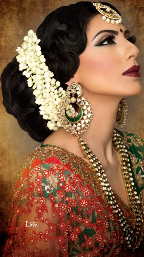 bridal hairstyles with gajra what a beautiful large low bun with real flower gajra