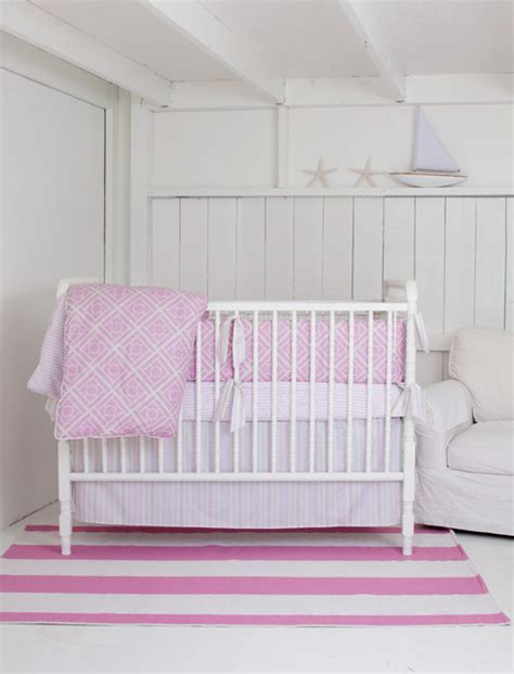 Contemporary Crib Bedding Petal Nursery Crib Bedding Contemporary Baby Bedding Los Angeles By Tatum