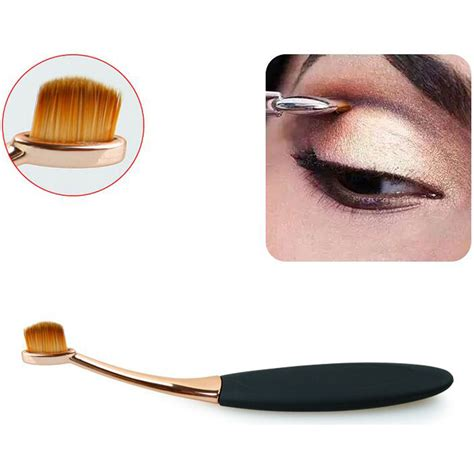 Kuas Mac S Shape Kuas Foundation kuas kosmetik make up oval brush wajah 10 pcs black gold jakartanotebook