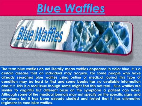 blue colored waffles what is a blue waffle