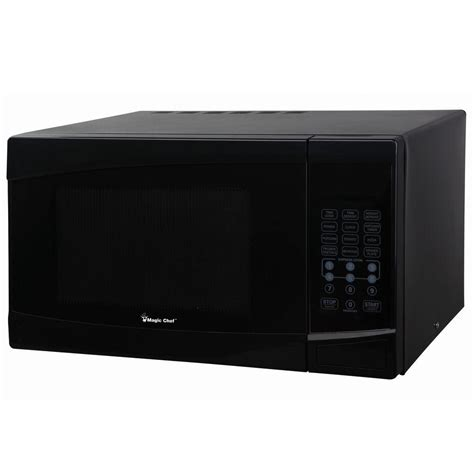 Magic Chef 0 9 Cu Ft Countertop Microwave In Stainless Steel magic chef mcm991b 0 9 cu ft countertop microwave 900 watts in black pppa avi depot much more