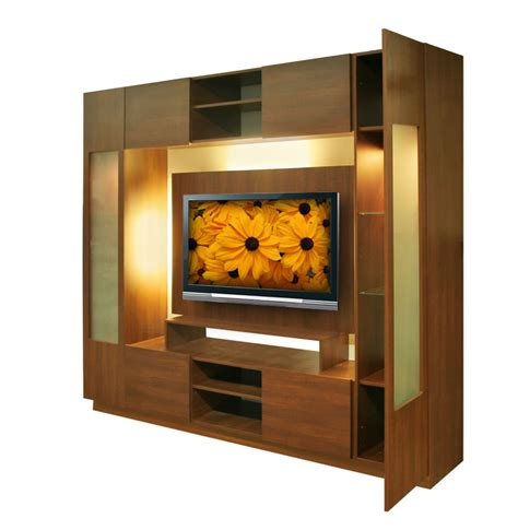 Wall Units With Glass Doors Wall Unit W Clear Glass Doors Interior Backlight Contempo Space