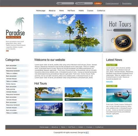 Travel Website Template 25 Designs To Download Travel Website Templates