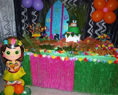 imagenes de cumpleaños hawaiano decoracion hawaiana cumplea os cebril com
