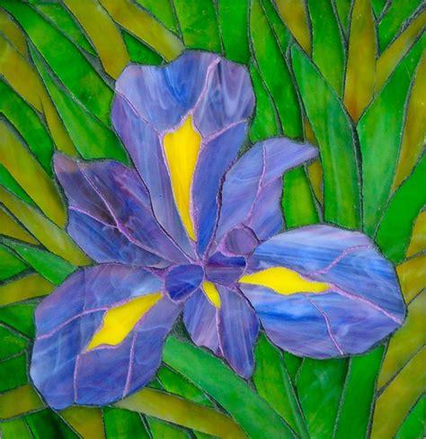 mosaic iris mosaic iris colored grout mosaics pinterest