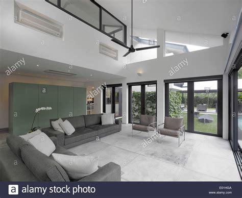 double height living room double height living room in modern house swiss club road