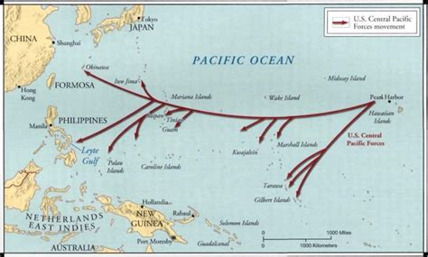 map showing the path that us soldiers took while island