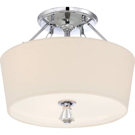 Quoizel Ceiling Light Quoizel Dx1718c Deluxe Modern Contemporary Semi Flush Mount Ceiling Light Qz Dx1718c