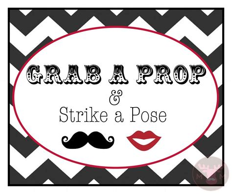 printable photo booth prop signs photo booth props photo booth sign grab a prop black