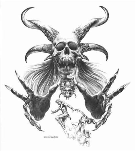 black and white skull tattoo designs 30 amazing evil designs