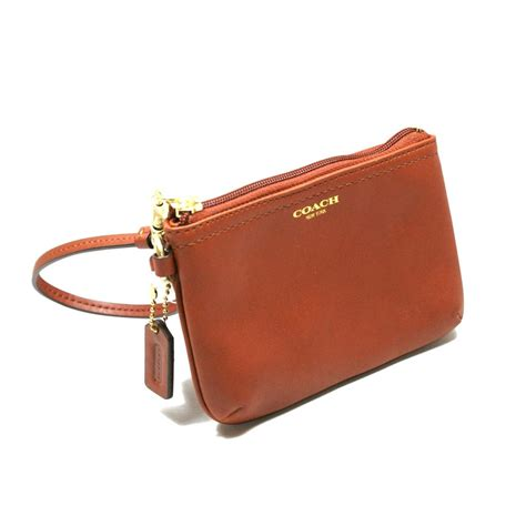 Small Wristlet coach box leather small wristlet cognac 48689b coach 48689b