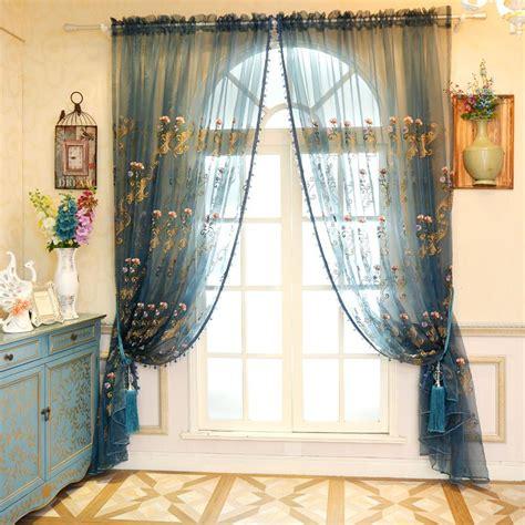 Sheer Blue Curtains Sheer Curtains Blue Promotion Shop For Promotional Sheer Curtains Blue On Aliexpress