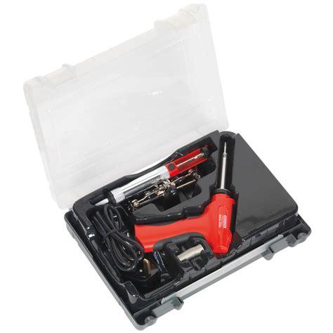 Solder Model Pistol Tembak Dekko sealey professional 30 100w soldering dual powered pistol type gun kit sd250k
