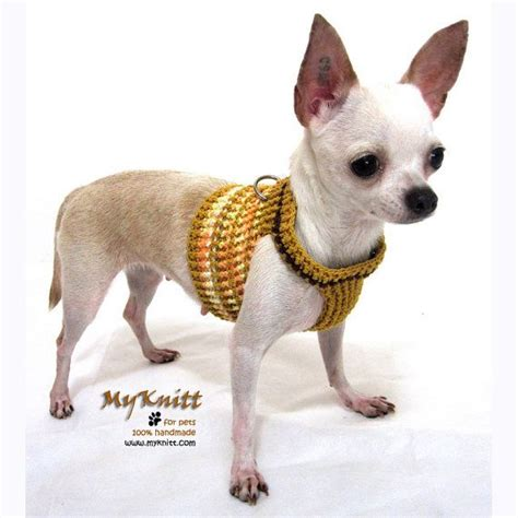 harness for small dogs harnesses vest puppia clothes pet clothing handmade comfortable cotton crocheted