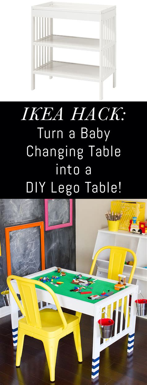 ikea changing table hack diy lego table ikea hack erin spain