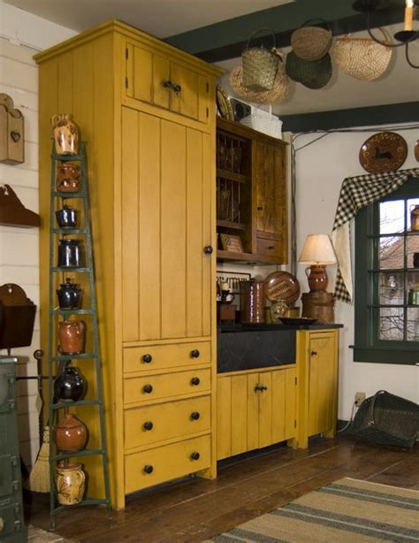 Mustard Kitchen Cabinets Https Www Davidtsmith A Bit Country Mustard Yellow Cabinets And