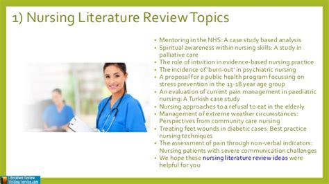 Literature Review Topics List by Review Of Literature Nursing Topics