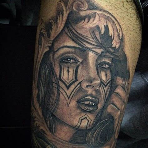 tattoo chicano pinterest tattoo girl chicano style chicano tattoo pinterest