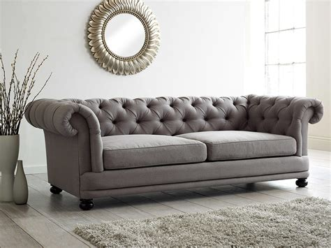 Chesterfield Style Fabric Sofa Cara Chesterfield Sofa