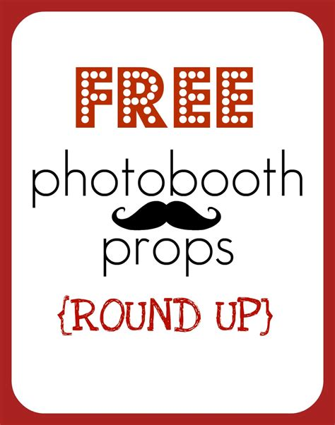 printable photo booth party props free printable photobooth props
