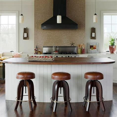 kitchen island with barstools bhg centsational style