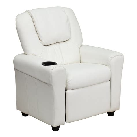 vinyl recliners flash furniture contemporary white vinyl kids recliner w
